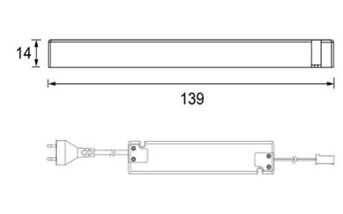 DRIVER 15W SLIM - MML - Technical Drawing